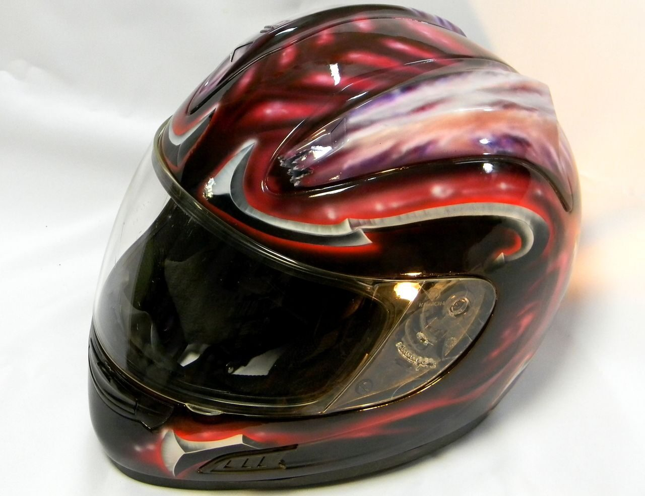 Black and Red Devil helmet