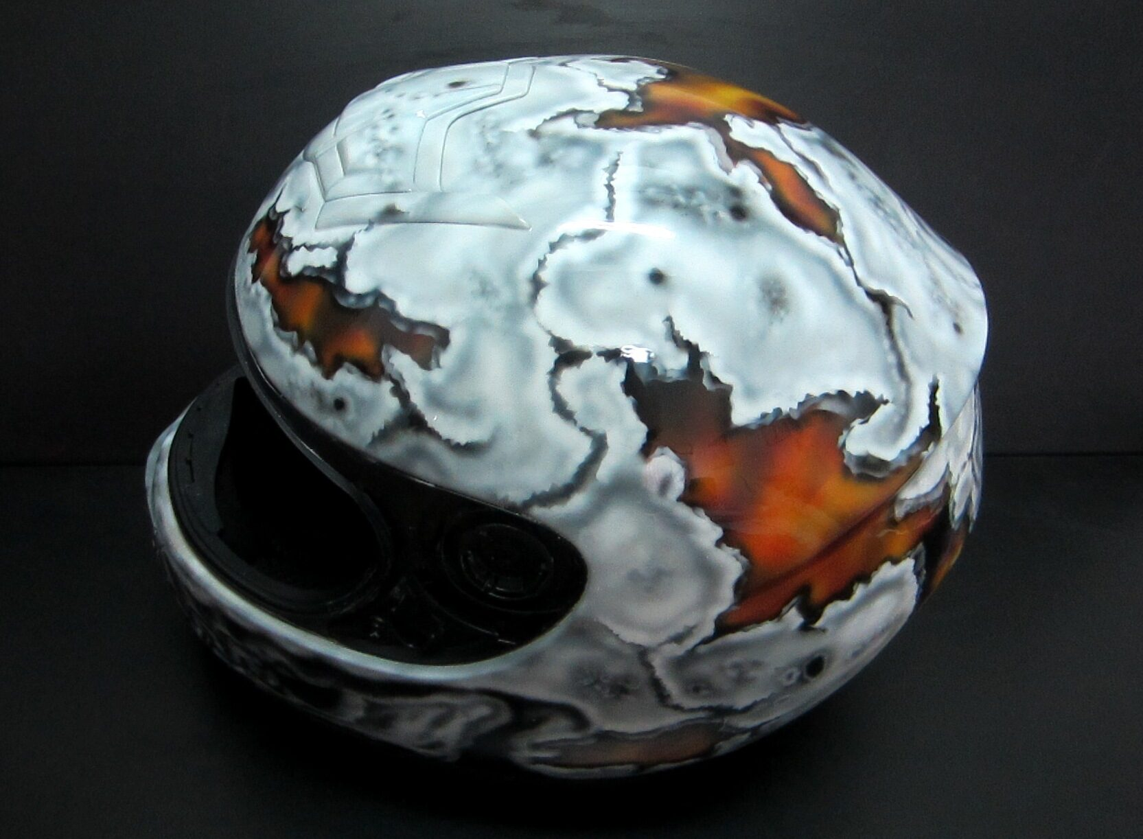 Helmet Flames & Cracks